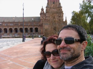 Mandy and Me at Plaza de España