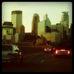 Minneapolis from Highway