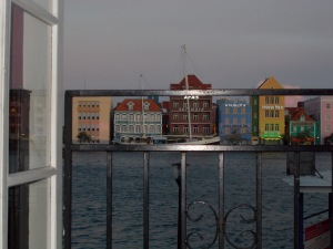 Willemstad Harbor Through Window